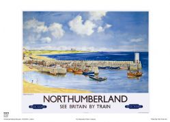 Northumberland - Seahouses - Railway & Travel Poster